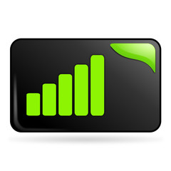 volume sur bouton web rectangle vert