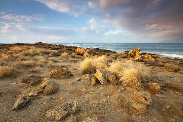 Greek seascape on the coast of Crete.