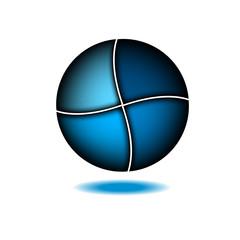 Technology abstract blue logo design template