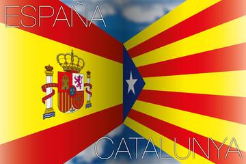 catalonia vs spain flags