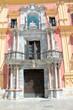 canvas print picture - Portal in der Altstadt von Malaga