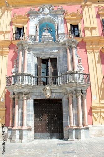 canvas print picture Portal in der Altstadt von Malaga