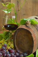 vino uva e botte