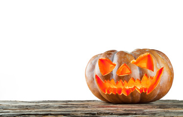 Halloween pumpkin isolated on white background