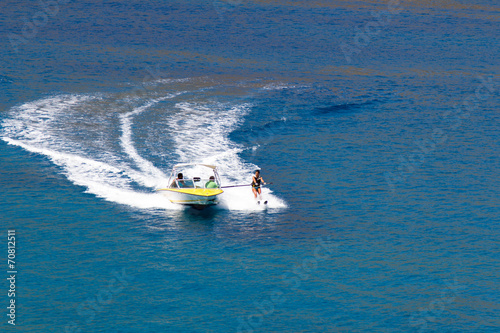 Fotobehang Water Motorsp. water skiing