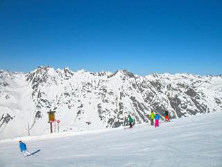 Alpen skiing