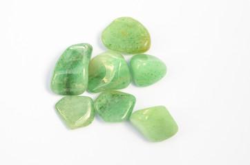 Edelsteine grün Fluorit Heilsteine poliert
