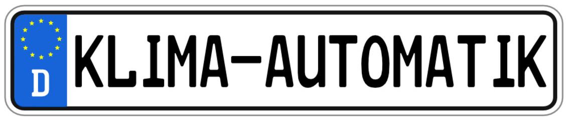 Klima Automatik Schild  #140928-svg07