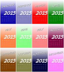 European 2015 year calendar