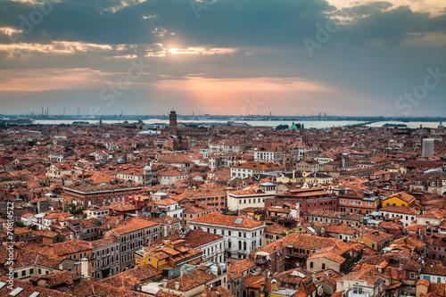 Staande foto Rome Venice cityscape - view from Campanile di San Marco. UNESCO Worl