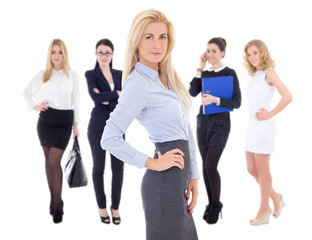young attractive successful business women isolated on white