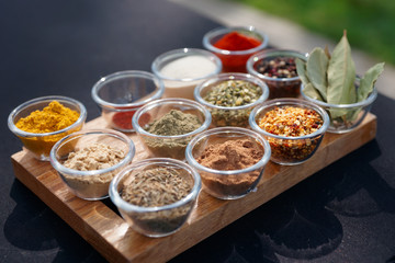 Set of various spices
