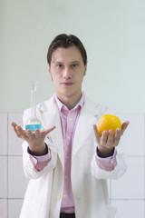 Scientist doing Genetic Modification