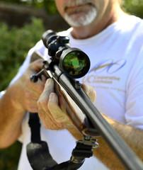 Weapon  shotgun hunting.