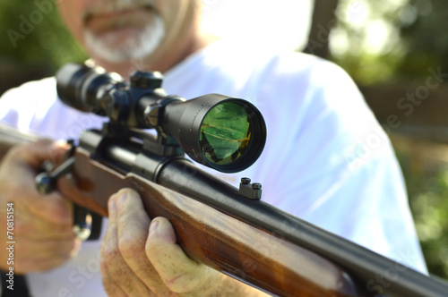 canvas print picture Weapon  shotgun hunting.
