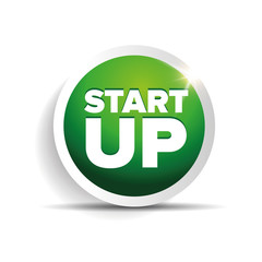 Startup button vector