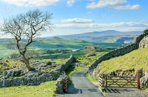 Yorkshire dales landscape england tourism uk green rolling hills