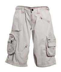 gray shorts isolated on white background