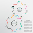 Abstract design template background with gear wheels and infogra