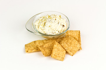 Tortilla chips and dip