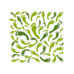 Green footprint frame for your design