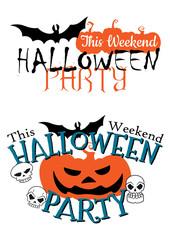 Amazing happy Halloween party invitation