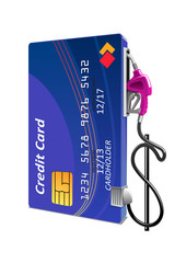 Credit card as gas pump