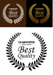 Best quality guaranteed label or emblem