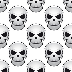 Seamless pattern of danger skulls