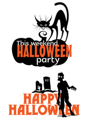 Halloween weekend party scary invitation