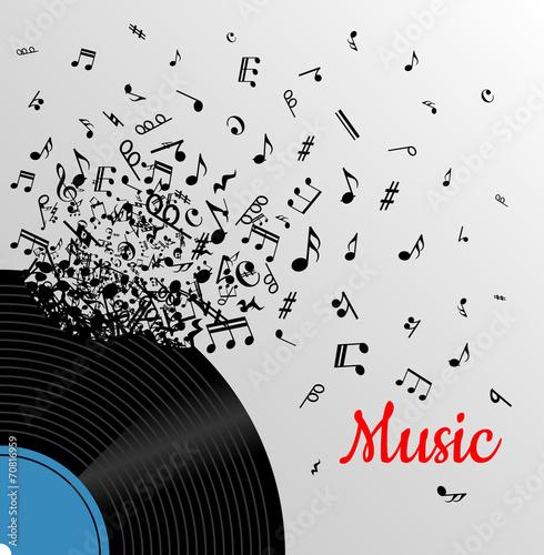 Retro music vintage poster