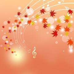 音楽と紅葉