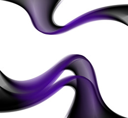 Purple abstract curves on the white background