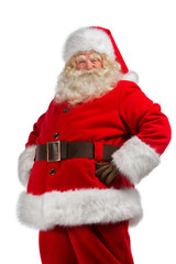 Santa Claus with his hands on his hips