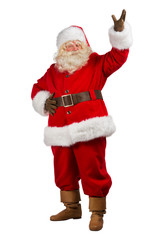 Santa Claus with his hands open