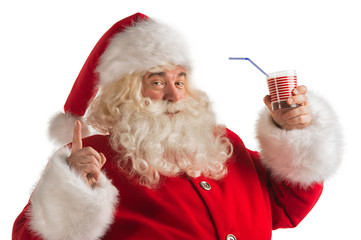 Santa Claus Drinking milk