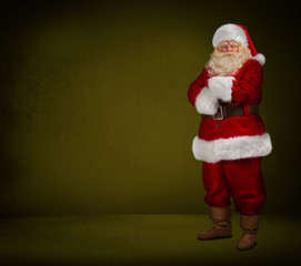 Santa Claus looking at camera