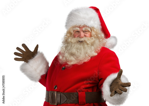 Fototapeta Santa Claus with a welcome gesture