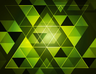 Seamless Green Abstract triangle pattern