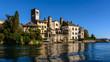 Leinwanddruck Bild - San Giulio Abbey