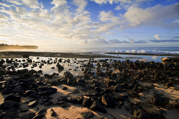 Sunrise on the beach in Maui