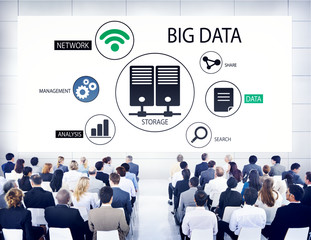 Diverse Business People in a Seminar About Big Data