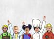 Group of Children in Dream Job Uniforms