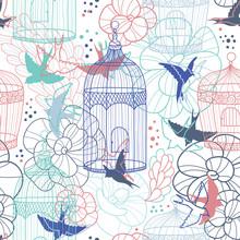 Cages à oiseaux, seamless