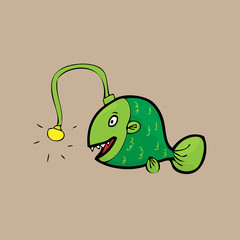Deep sea monster Anglerfish