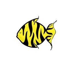 Fish tiger pattern