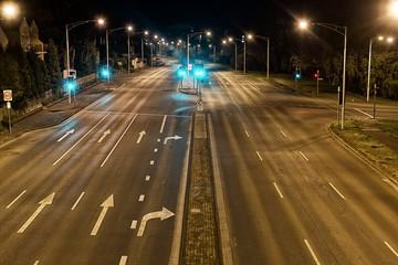 Streetscape at Night