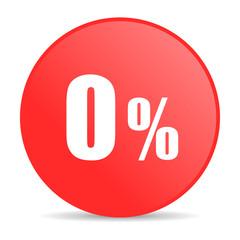 0 percent web icon