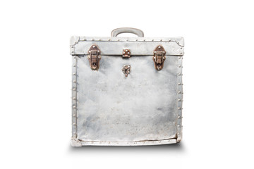 Old case of film and rust on metal. Clipping path included,Old s