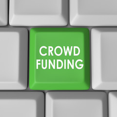 Crowd Funding Computer Keyboard Key Button